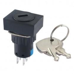Interruptor c/ chave de 2 circuitos 2NO-2NC Rectangular
