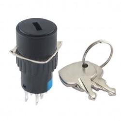 Interruptor c/ chave de 2 circuitos 2NO-2NC Redondo