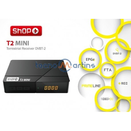 Receptor TDT MPEG4 HD DVB-T/T2 - SHOP+ T2 MINI