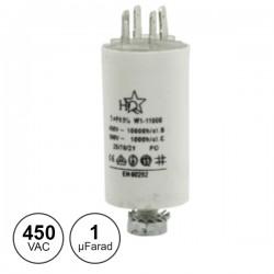 Condensador Arranque 1,0Uf 450V + Terra