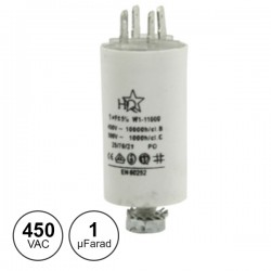 Condensador Arranque 1Uf 450V + Terra