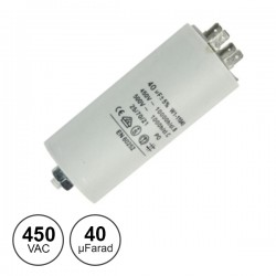 Condensador Arranque 40Uf 450V + Terra