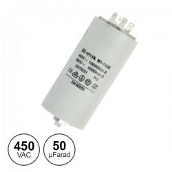 Condensador Arranque 50Uf 450V + Terra