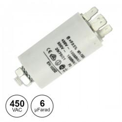 Condensador Arranque 6.0Uf 450V + Terra