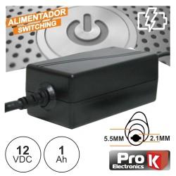 Alimentador Switching 12Vdc 1A - Prok