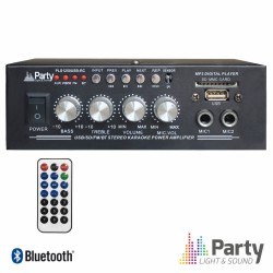 Amplificador Karaoke 2X25W 8-16 Ohm 220V/12V USB/BT/FM - LTC