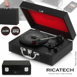 Gira Discos 33/45/78Rpm RETRO 2x3W RICATECH