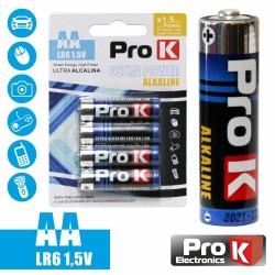 Pilha Alcalina Lr6/AA 1.5V 4X Blister - Prok