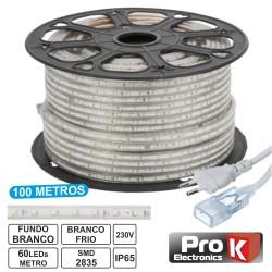 Fita 60 LEDs 3528 Impermeável Branco Frio 220V - Prok