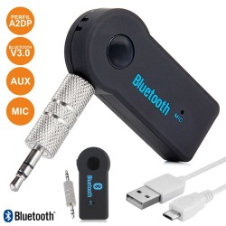 Receptor Audio Bluetooth C/ Ficha Jack 3.5mm e Bateria