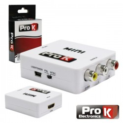 Conversor HDMI Para Composto + Audio - ProK
