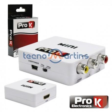 Conversor Sinal Composto + Áudio para HDMI - ProK