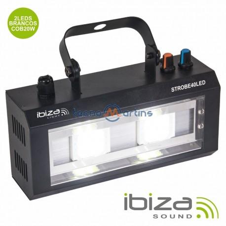 Estroboscópio C/ 2 LEDs 20W - Ibiza