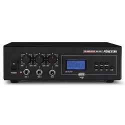 Amplificador Áudio Megafonia. 30 W máximo, 15 W RMS - Fonestar