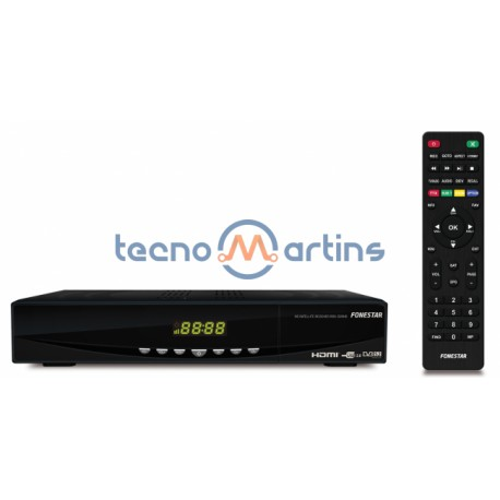 Recetor Satélite HD DVB-S2/MPEG-4/MPEG-2 com Saída HDMI - Fonestar