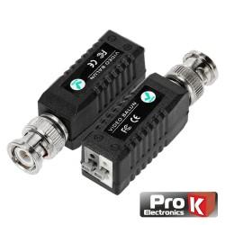 Conversor Passivo HD 2X Balun Vídeo Áudio c/ Terminais de Aperto