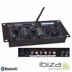 "Mesa de Mistura 19"" 2 Canais Usb/Bluetooth - Ibiza"
