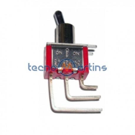 Interruptor Alavanca Spdt 90° Vertical On-Off-On
