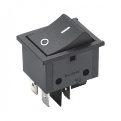 Interruptor Off-(On) Quadrado Preto 16A/250V Edh