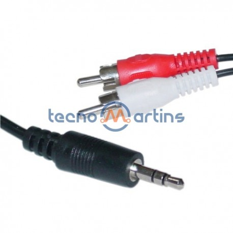 Cabo Jack 3.5mm Macho St / 2-Rca Macho 15M