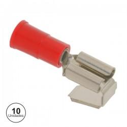 Conjunto de 10 Terminais Vermelhos 6.35mm