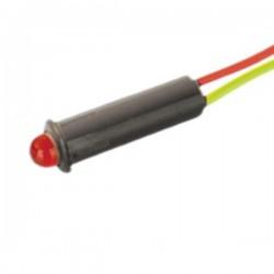 Led Piloto Alto Brilho Vermelho 5mm 12V Edh