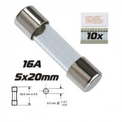Fusível 5X20 Fusão Lenta 16A (10X)