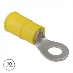 Terminal Redondo Isolado 4.3mm 10X Amarelo Velleman