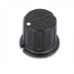 Botão Preto c/ Ponto Branco 24.5X6mmm