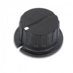 Botão Preto c/ Ponto Branco 35.7X6mm