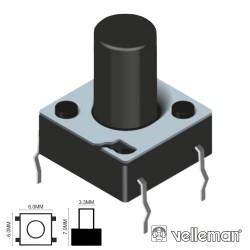 Pulsador Micro Switch 6X6mm Altura 7mm Velleman