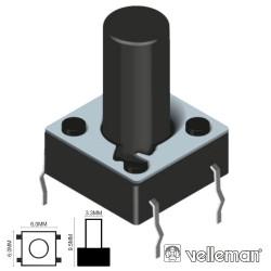Pulsador Micro Switch 6X6mm Altura 9.5mm Velleman