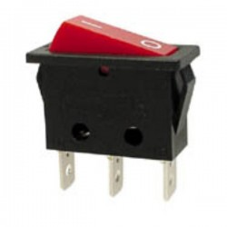 Interr. Potência Basculante 10A-250V Dpst On-Off Vermelho