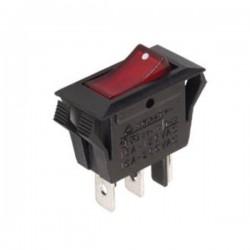 Interr. Potência Basculante 10A-250V On-Off Vermelho
