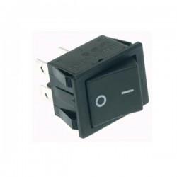 Interr. Potência Basculante 10A-250V Dpst On-Off Tecla Preto