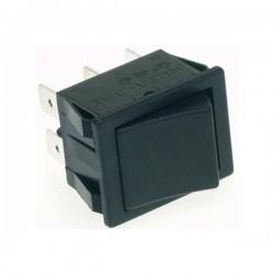 Comutador Basculante 10A-250V Dpst On-On Tecla Preta