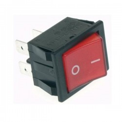 Interruptor Basculante 15A 250V DPST On-Off Luminoso Vermelho