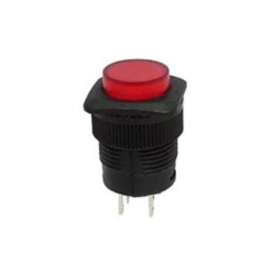 Interruptor Off-(On) Vermelho c/ Led