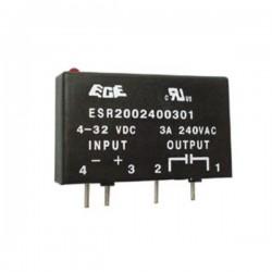 Relé 4-32Vdc Interruptor Unipolar 3A/240V Estado Solido