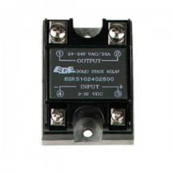 Relé 3-32Vdc Interruptor Unipolar 25A/240V Sólido