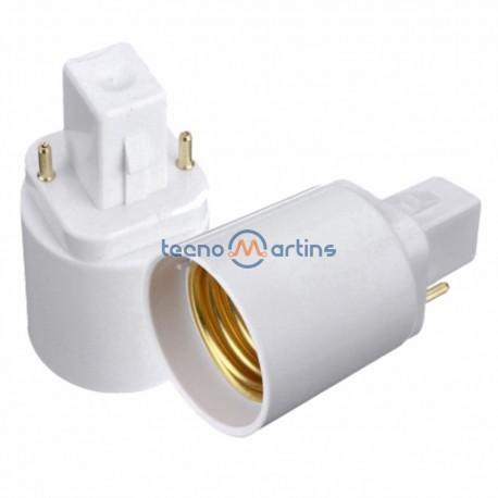 Suporte adaptador p/ lâmpada G24 p/ E27