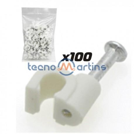 Braçadeira de Parede c/ Prego p/ Cabo 100X 3/4mm