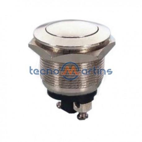 Pulsador Off-(On) Aço Inoxidável 2A 250V Edh