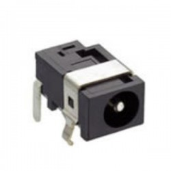 Ficha DC macho 1.65x4.4mm P/ Circuito Impresso