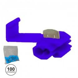 Conjunto de 100 Quick Splice Azuis