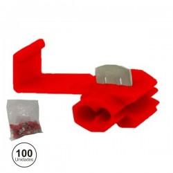 Conjunto de 100 Quick Splice Vermelhos