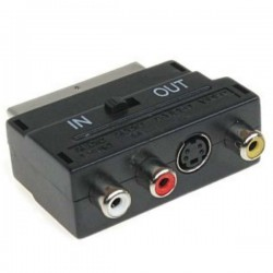 Ficha Adaptadora Scart 21P / 3Rca Svhs In/Out