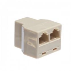 Adaptador de Telefone 8P8C 1 Fêmea / 2 Fêmea Modular