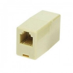 Adaptador de Telefone Rj12 6P6C 1Fêmea / 1Fêmea