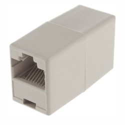 Adaptador de Telefone 8P8C Rj45 1Fêmea / 1Fêmea